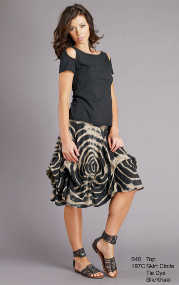 Luna Luz Shibori Tie Dyed Skirt with Interior Ties
