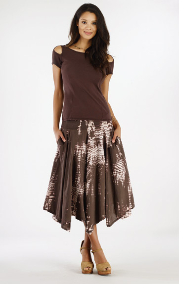 Luna Luz Bamboo Multi Paneled Skirt