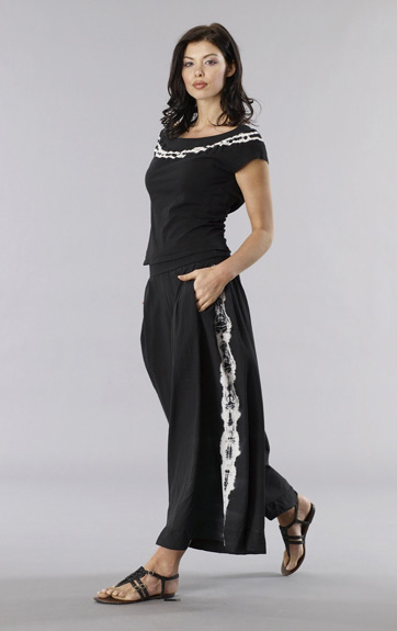 Luna Luz Tie Dyed Cap Sleeve Top with Tied Dye Wide Leg Pant