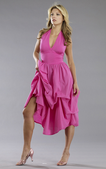 Luna Luz Garment Dyed Halter Dress with Ties