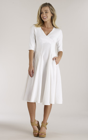 Luna Luz Garment Dyed V Neck Dress