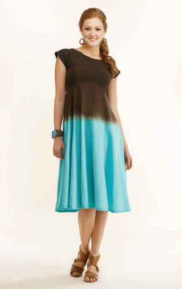 Luna Luz Ombre Dyed Empire Waist Dress