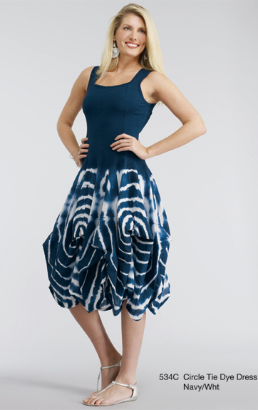 Luna Luz Shibori Tank Dress with Interior Ties