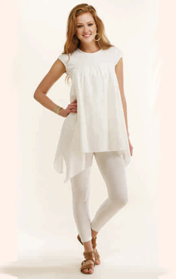 Luna Luz Cotton Silk and Cotton Lycra Tunic and Garment Dyed Leggins