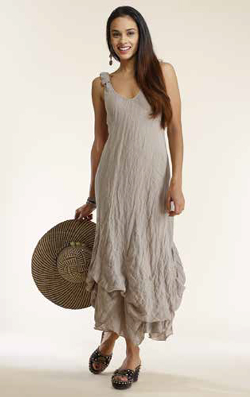 Luna Luz Ombre Dyed Tank Dress with Interior Ties
