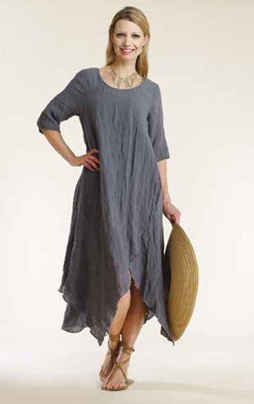 Luna Luz Linen Gauze Swing Dress
