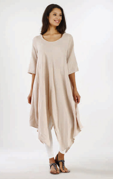 Luna Luz Garment Dyed Scoop Neck Tunic