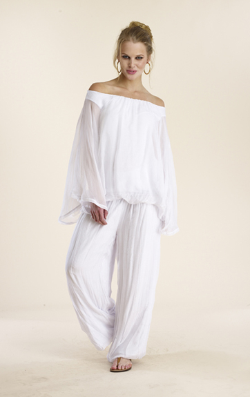 Luna Luz Silk Poncho and Silk Pant