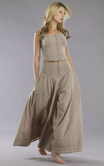 Luna Luz Garment Dyed Button Front Tank and Button Front Culotte Pant