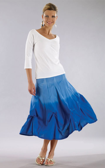 Luna Luz Ombre Dyed Skirt With Intrior Ties