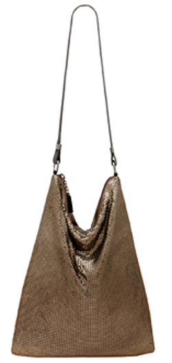 Whiting & Davis Flat Mesh Hobo