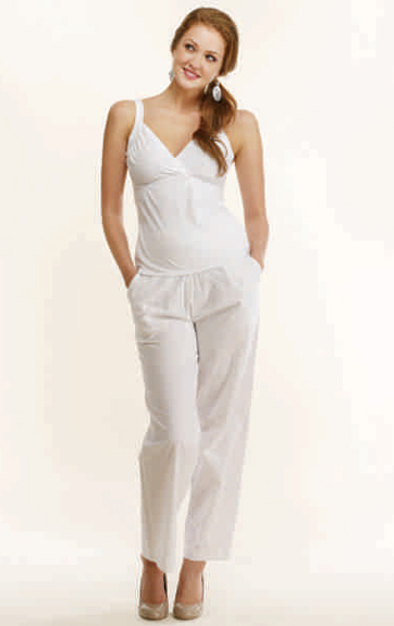 Luna Luz Garment Shirred Bra Top Tank  and Soft Yoke Pant