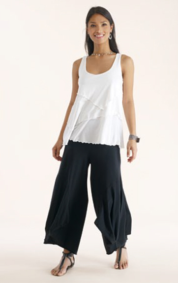 Luna Luz Garment Dyed Five Tier Tank Top and Cotton/Lycra Pant