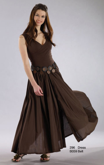 Luna Luz Garment Dyed Crossover Bodice Dress